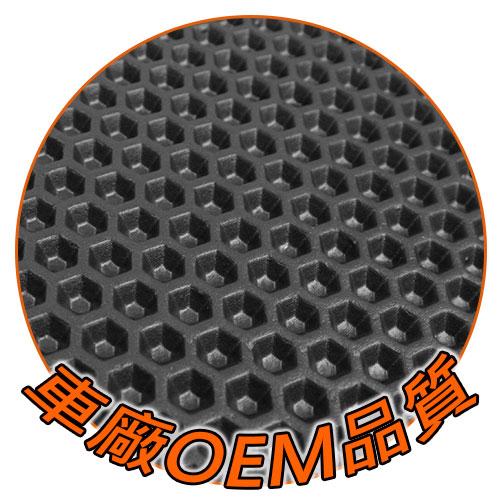CARBUFF 蜂巢式防水汽車腳踏墊-特寫